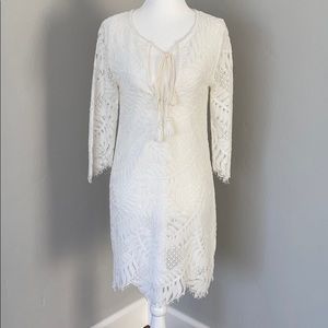 Lovers+Friends White Lace Dress
